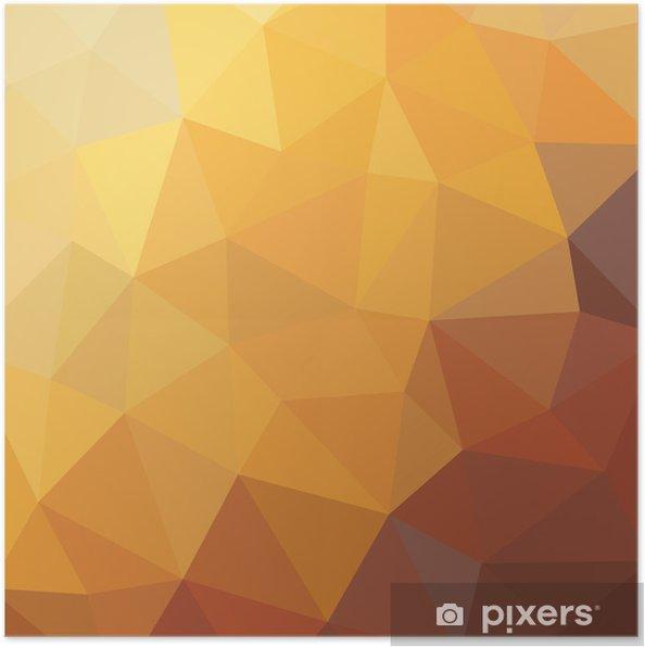 Plakat Geometric Background - wektor wzór - Tła
