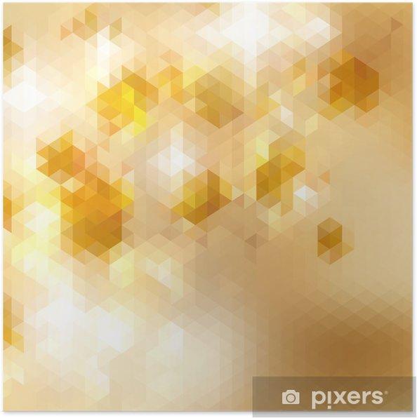 Plakat Geometryczne tle trójkąta mozaiki. + Eps10 - Ekologia