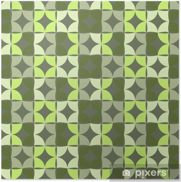Plakat Geometryczny wzór bez szwu, wektor. - Tła