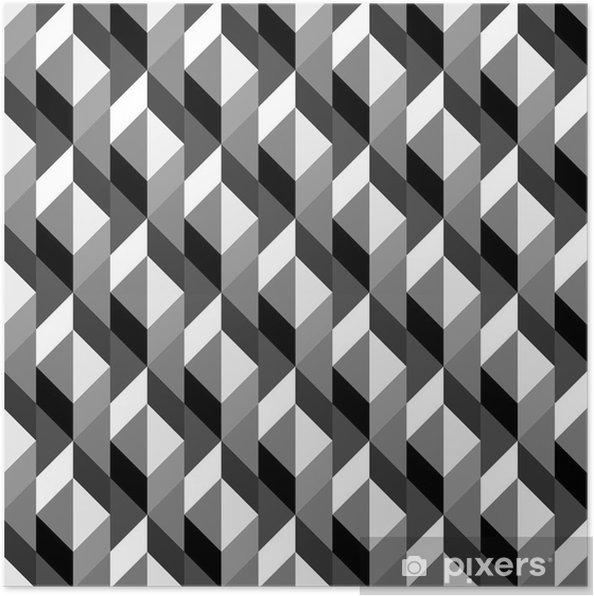 Plakat Geometryczny wzór powtarzalne - Sztuka i twórczość