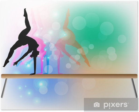 Plakat Gimnastyka sportowa - Belka - Tancerze