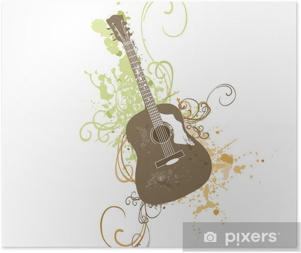 Plakat Gitara - Tematy
