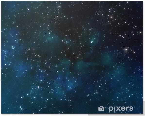Plakat Głęboki kosmos lub nocne niebo gwiaździste - Tematy