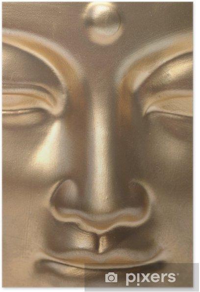 Plakat Golden Buddha bliska. - Buddyzm