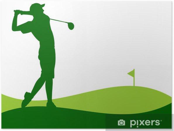 Plakat Golf - Player dając szansę - Tła
