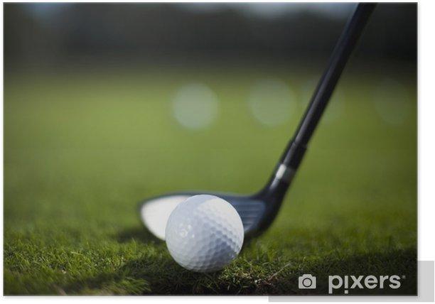 Plakát Golfový míček na řidiče - Individuální sporty