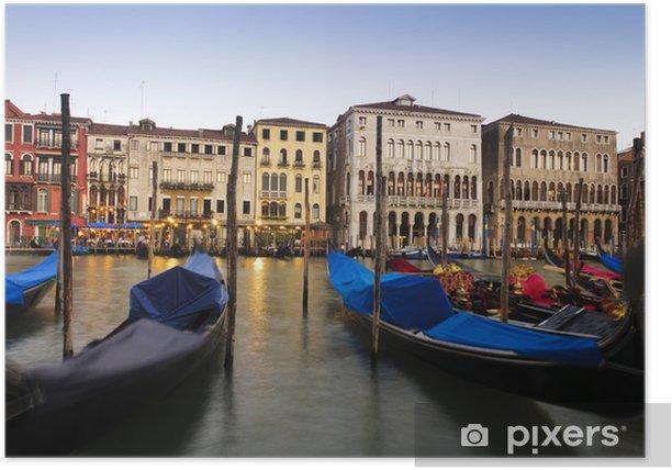 Plakat Gondole w Wenecji, Włochy. - Wakacje