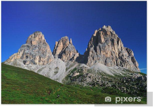 Plakat Góra, Dolomity, Alpy, Włochy - Wakacje