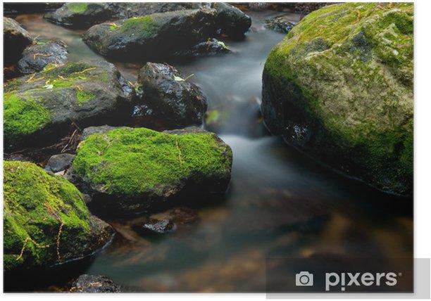 Plakat Górski potok - Cuda natury