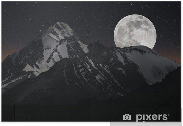 Plakat Górski szczyt - Góry