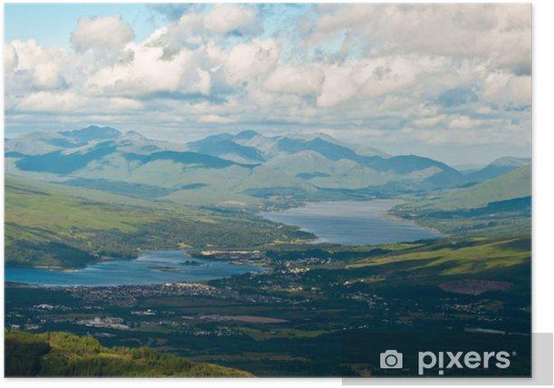 Plakat Górski widok z góry - Niebo