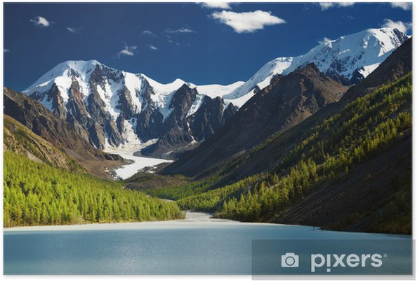 Plakat Górskie jezioro - Góry