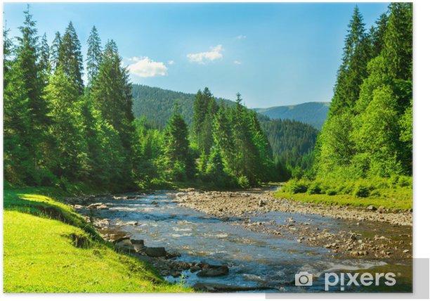 Plakat Górskiej rzeki - Tematy