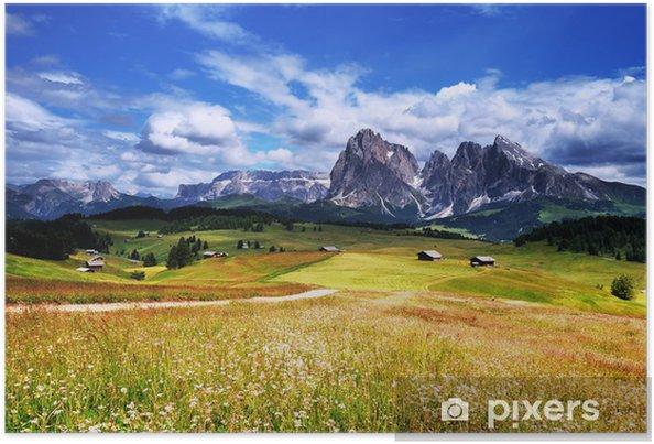 Plakat Góry, Dolomity, Alpe di Siusi, Włochy - Tematy
