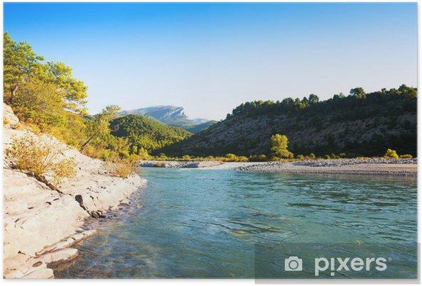 Plakat Góry rzeki. Cinqueta - Europa