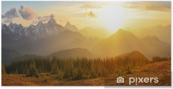 Plakat Góry Sunset - iStaging