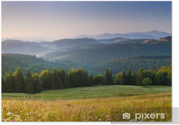 Plakat Góry - Pory roku