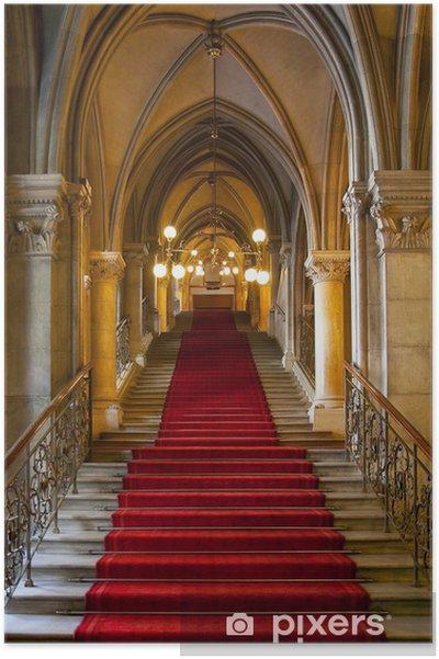 Plakat Gotycki zamek wnętrze - Tematy
