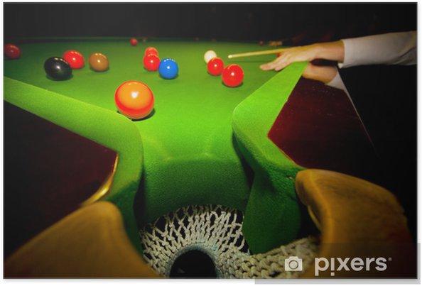 Plakat Gra Snooker - Sporty indywidualne