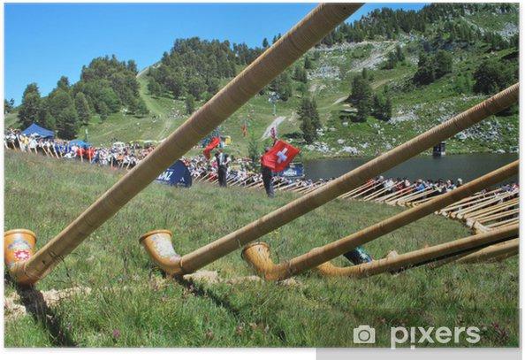 Plakat Gracze w Alphorn Alphorn Festiwalu w Nendaz - Inne uczucia