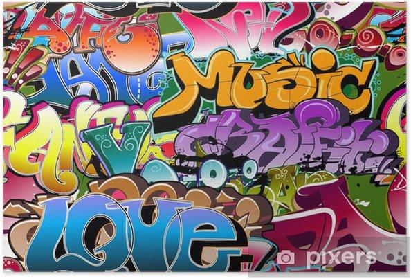 Plakat Graffiti bezszwowe tło. hip-hop sztuki -