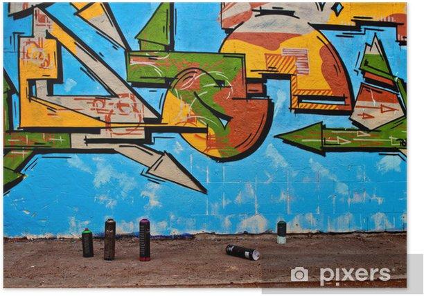 Plakat Graffiti i aerozole - Sztuka i twórczość