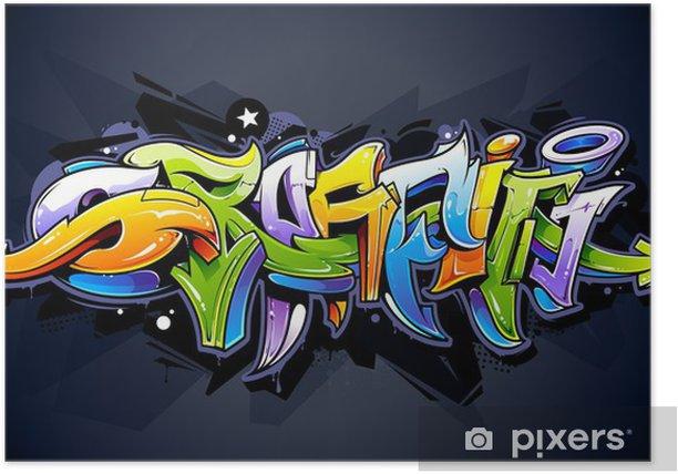 Plakat Graffiti, napis jasny - Tematy