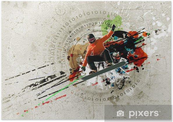 Plakát Graffiti obrázek - Zimní sporty