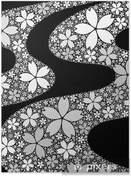 Plakát Grafický vzor - Květiny