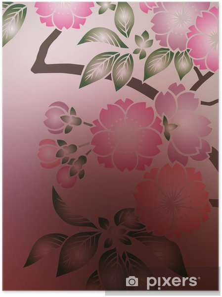 Plakát Grafický vzor - Roční období