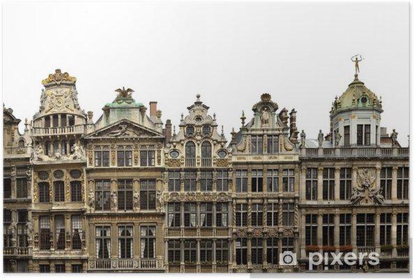 Plakát Grand Place Bruxelles - Belgique - Evropská města