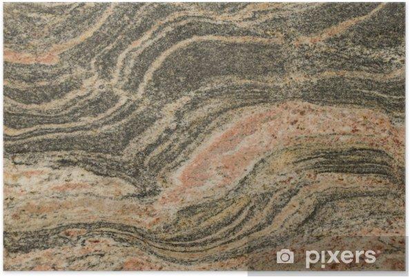 Plakat Granit, marmur, onyks tekstury - Surowce