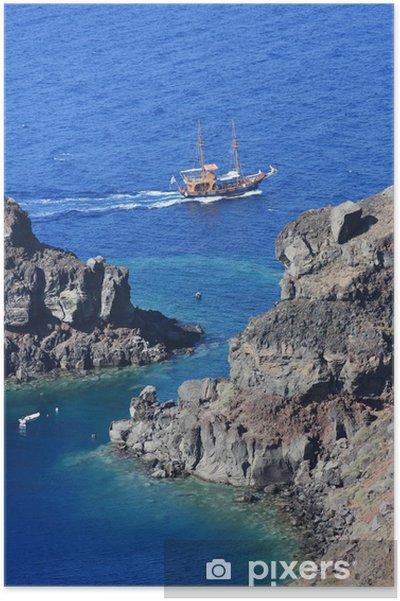 Plakát Grèce / Santorini - Calanque - Evropa