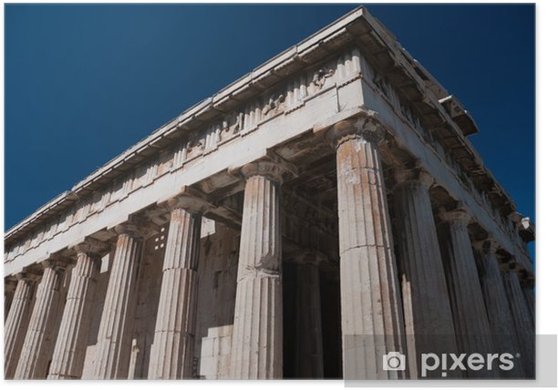 Plakat Grecki świątynia Aresa kolumn, Akropol - Tematy