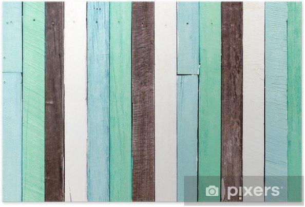 Plakát Grunge dřevo na pozadí - Témata