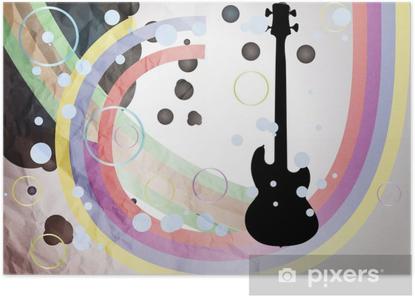 Plakát Grunge Guitar Ilustrace - Témata