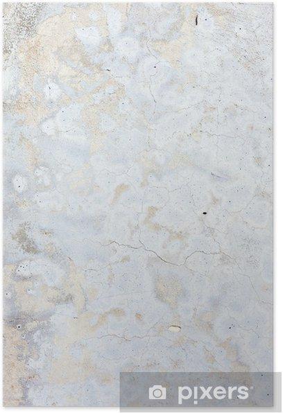 Plakat Grungy beton biały naturalny - Tematy