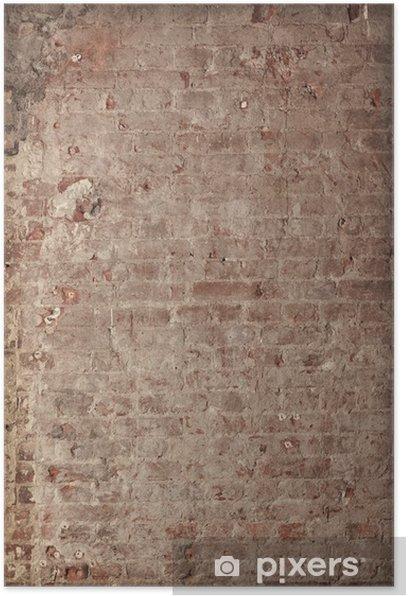 Plakat Grungy brickwall - Zabytki