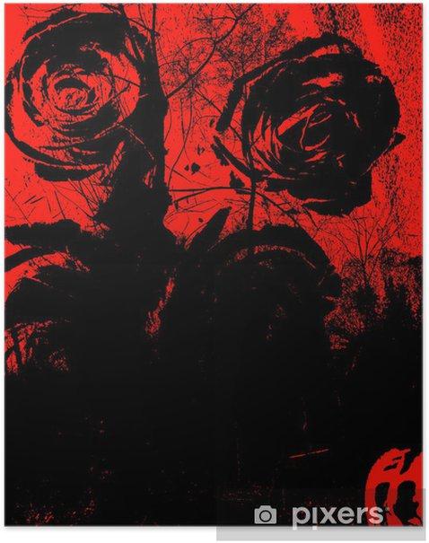 Plakat Grungy tle - Tła