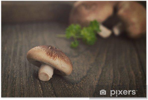 Plakat Grzyby shiitake - Warzywa