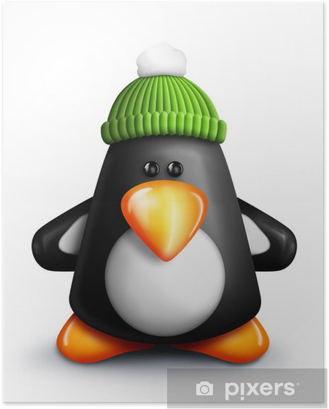 Plakát Gumdrop Penguin - Mezinárodní svátky