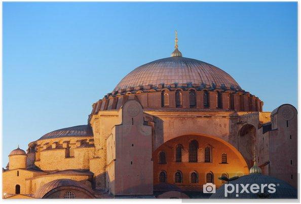 Plakát Hagia Sophia v Istanbulu - Střední Východ