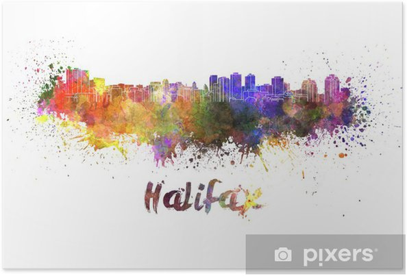 Plakat Halifax skyline w akwarela - Ameryka