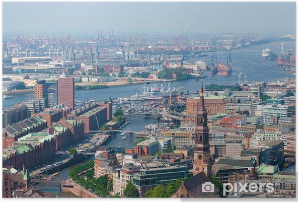 Plakát Hamburk, přístavní - Město