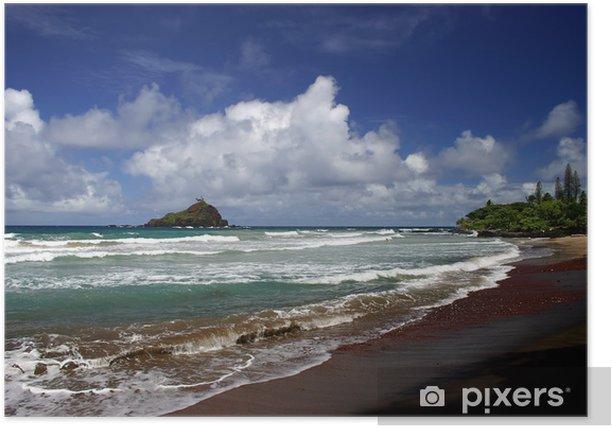 Plakat Hany plaży na Maui Island, Hawaje - Tematy