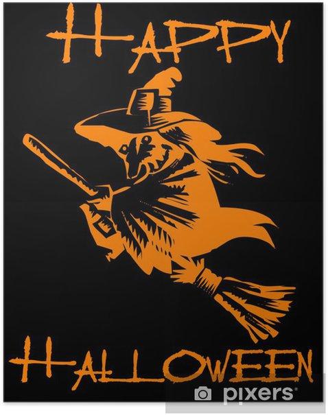 Plakat Happy Halloween! Witch! - Święta międzynarodowe