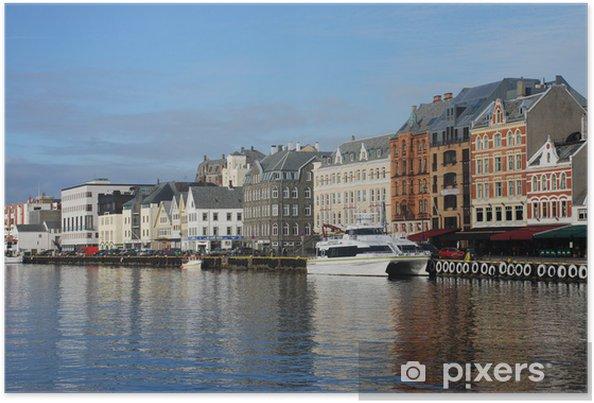 Plakát Haugesund přístaviště - Evropa