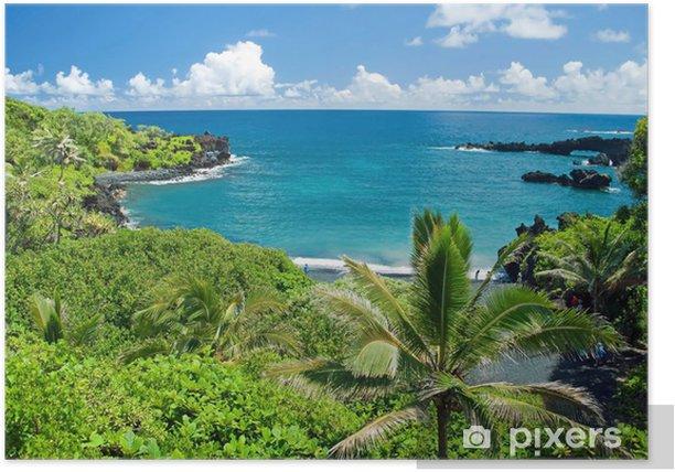 Plakat Hawaje raj na wyspie Maui - Tematy