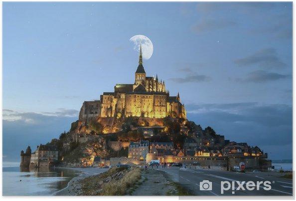 Plakat HDR Mont-Saint-Michel - Wakacje