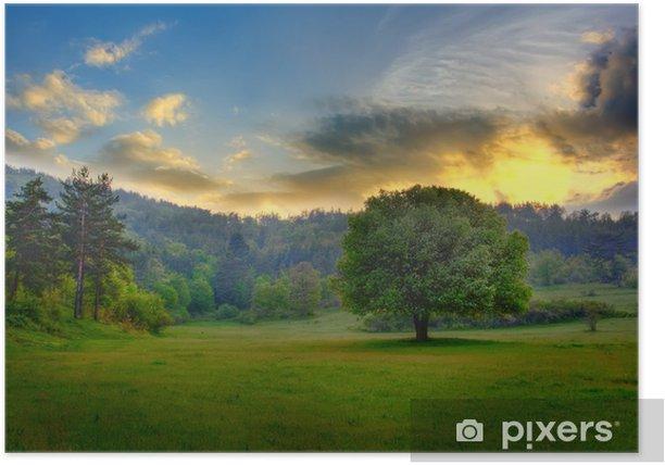 Plakat HDR Sunset - Niebo